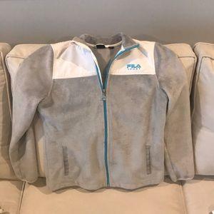 EUC Girls FILA brand lined jacket